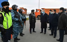 The President of Kazakhstan visited the checkpoint at the entrance to Nur-Sultan