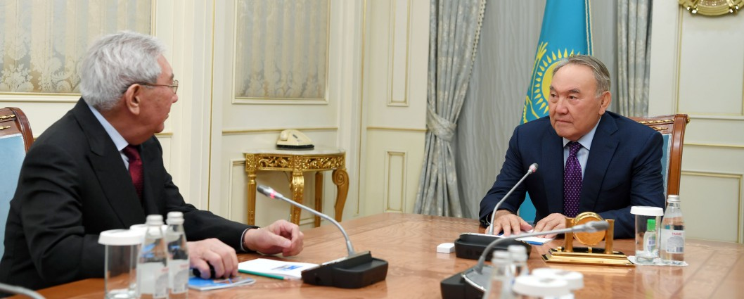 Meeting with state and public figure Myrzatai Zholdasbekov