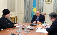 Meeting with the Metropolitan of Astana and Kazakhstan Alexander